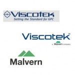 Series of three logos, Viscotek logo with viscometry bridge, Viscotek logo as a Malvern company, Malvern only logo