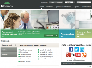 Malvern portuguese website