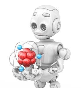 16799147-robot-holding-atom