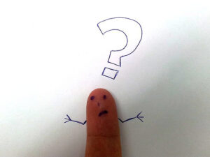Thumb with a question mark
