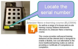 how to get access to the Zetasizer elearning course