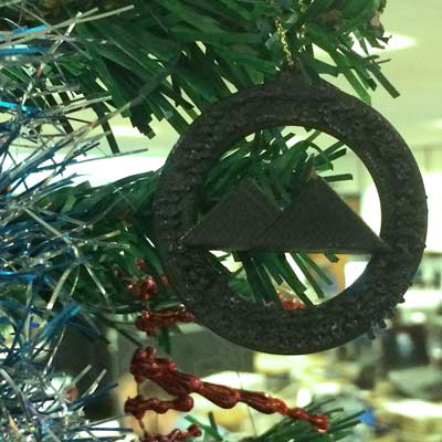 3D printed Malvern wreath