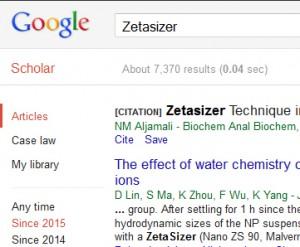 Google Scholar Zeta