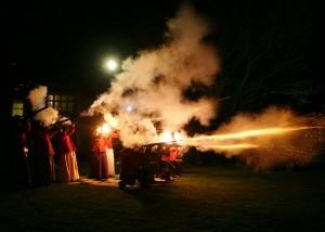 wedding musket fire