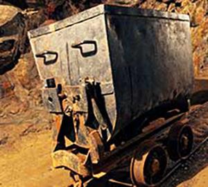 Mining cart in silver, gold, copper mine_000062190030 300x270
