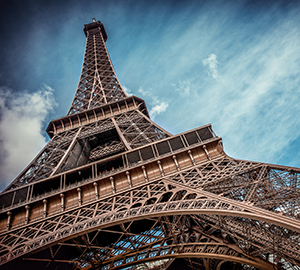 A big size picture of the Eiffel Tower, symbol of Paris and France
