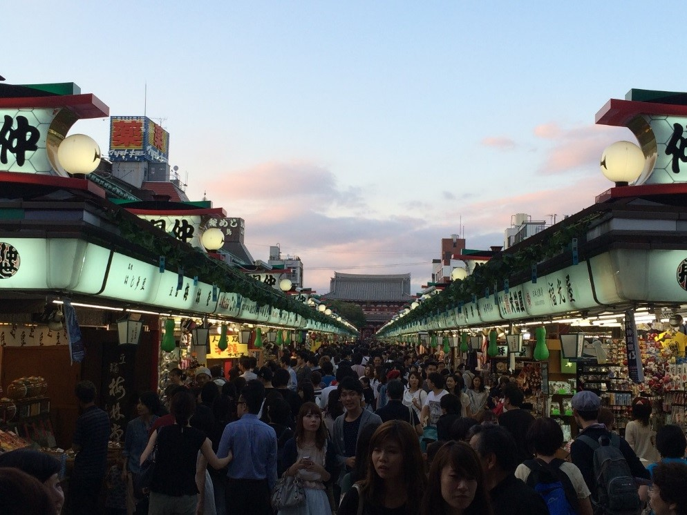 Figure 5 - the market stalls which line the route to Senso-ji temple, Asakusa Tokyo
