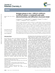 Multiple phases in the ε-VPO4O-LiVPO4O-Li 2VPO4O system: A combined solid state electrochemistry and diffraction structural study