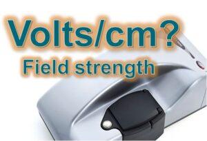 Volts-per-cm-field-strength
