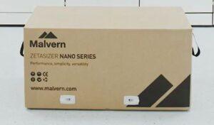 Zetasizer Nano in a brown cardboard box with Malvern Hills