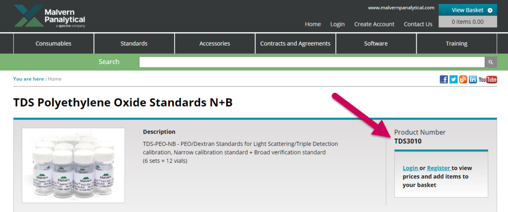 Screenshot of TDS3010 product page.  Use the Search bar and the filters to find exactly what you're looking for!