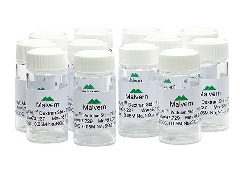 Six sets of narrow pullulan + broad dextran standards (TDS3030)